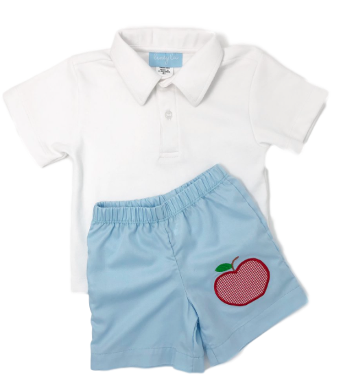 Appliqué Apple Short Set