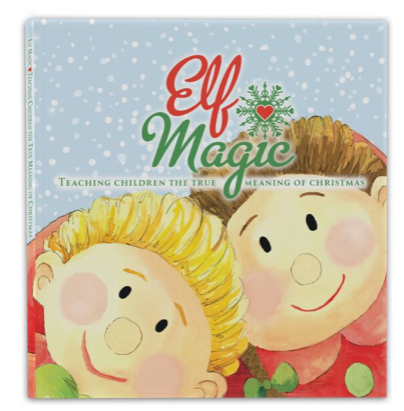Magic Elf Girl & Elf Book – Black Hair