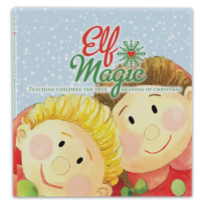 Magic Elf Girl & Elf Book – Brown Hair