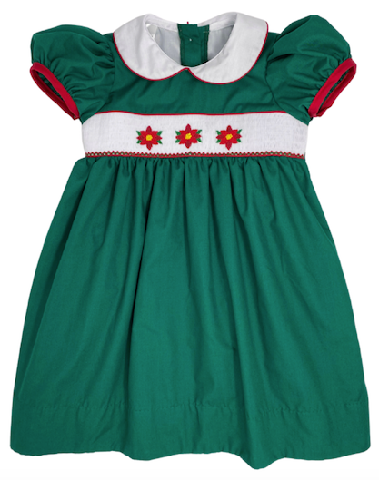 Poinsettia Sash Dress