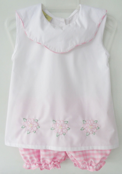 Summer Magnolia Girls Short Set