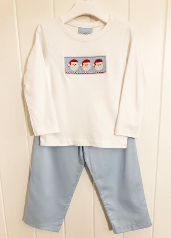 Dear Santa Smocked Pants Set