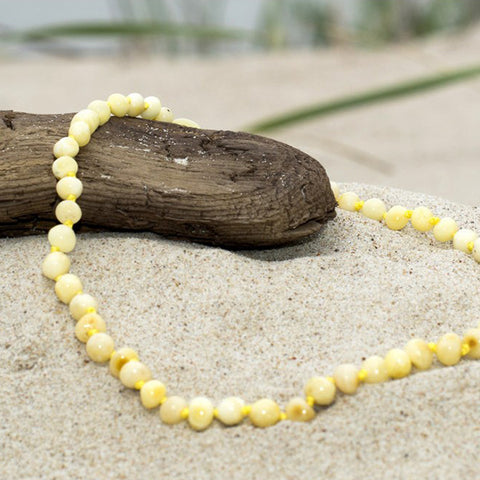 Baltic Amber Baby Amber Teething Necklace - Milky