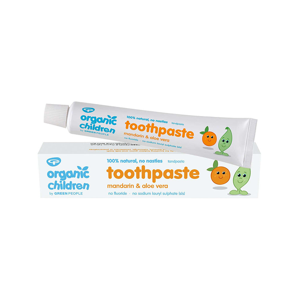 Green People Organic Children Toothpaste - Mandarin & Aloe Vera 50ml