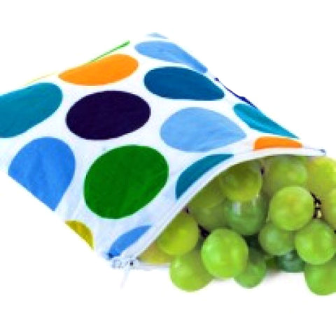 Itzy Ritzy Snack Happens Reusable Snack Bags - Big Top Dot