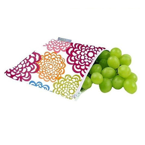 Itzy Ritzy Snack Happens Reusable Snack Bags - Fresh Bloom
