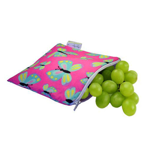 Itzy Ritzy Snack Happens Reusable Snack Bags - Social Butterfly