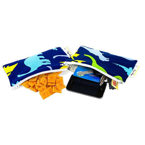 Itzy Ritzy Snack Happens Mini Reusable Snack Bag - Dino-Mites