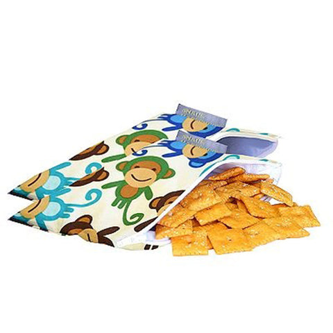 Itzy Ritzy Snack Happens Mini Reusable Snack Bag - Funky Monkey