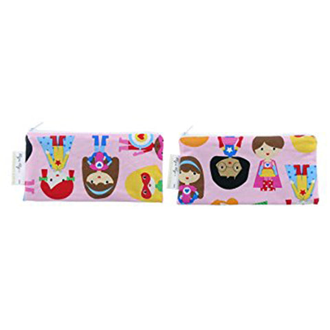 Itzy Ritzy Snack Happens Mini Reusable Snack Bag - Girl Power!