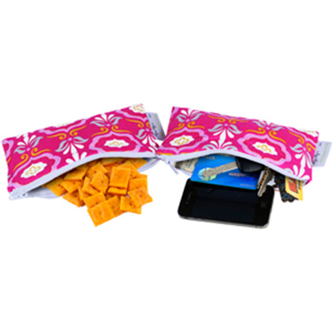 Itzy Ritzy Snack Happens Mini Reusable Snack Bag - Modern Damask