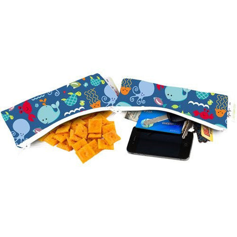 Itzy Ritzy Snack Happens Mini Reusable Snack Bag - Under the Sea