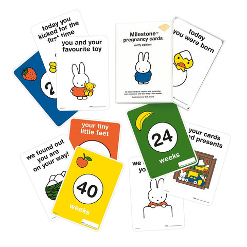 milestone miffy pregnancy cards