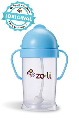Zoli BOT XL 9oz Straw Sippy Cup (Blue)