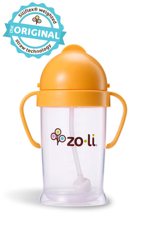 Zoli BOT XL 9oz Straw Sippy Cup (Orange)