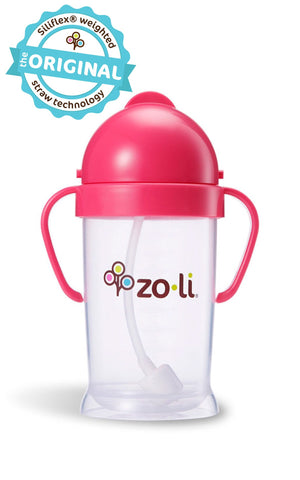 Zoli BOT XL 9oz Straw Sippy Cup (Pink)