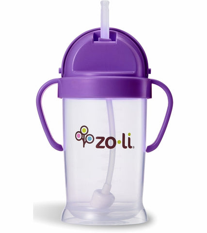Zoli BOT XL 9oz Straw Sippy Cup (Purple)