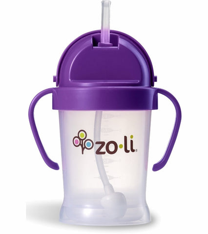 Zoli BOT  6oz. Straw Sippy Cup (Purple)