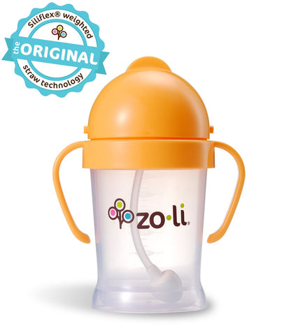 Zoli BOT  6oz. Straw Sippy Cup (Orange)