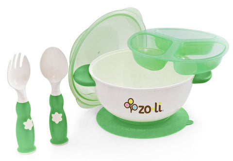 Zoli STUCK Kids No Spills Bowl (Green)