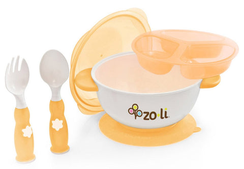 Zoli STUCK Kids No Spills Bowl (Orange)