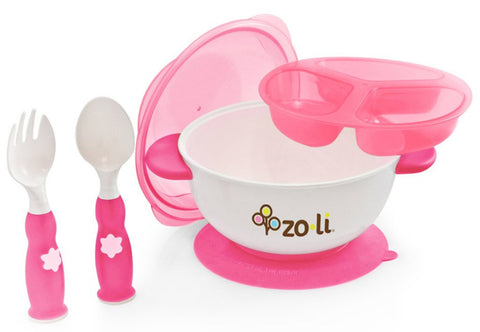 Zoli STUCK Kids No Spills Bowl (Pink)