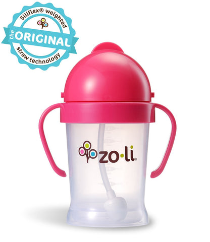 Zoli BOT  6oz. Straw Sippy Cup (Pink)