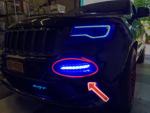 2012-2016 Jeep Grand Cherokee Front Bumper DRL Boards