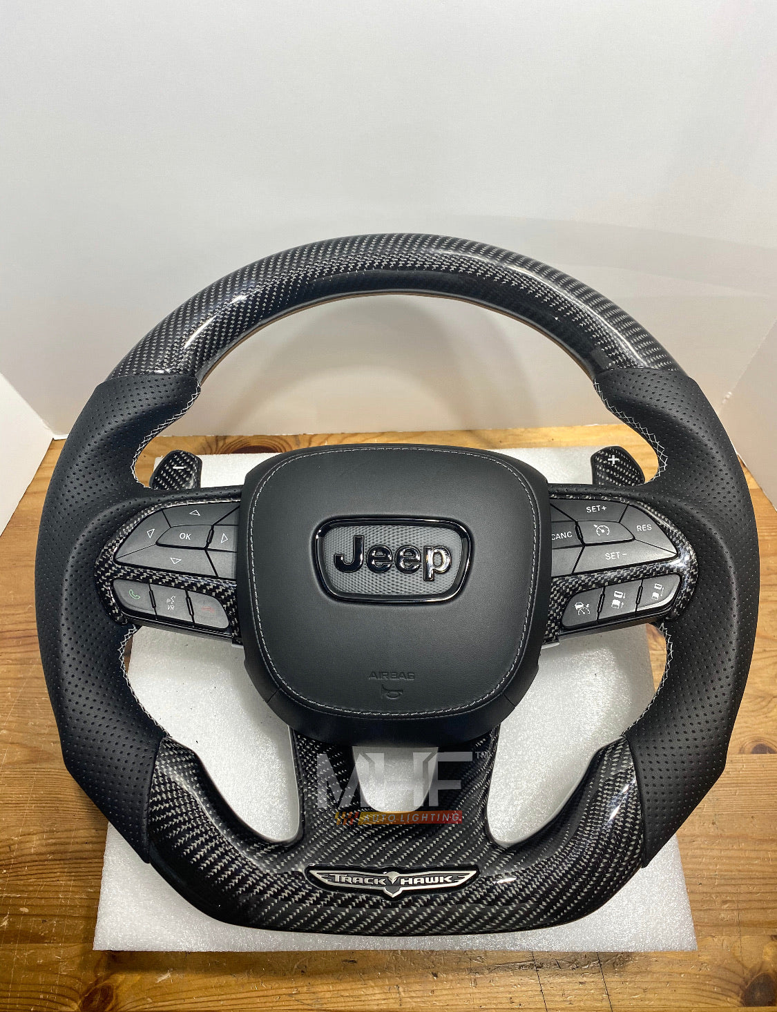 "2018-2020 Carbon ""Track Series"" TrackHawk Steering Wheel"