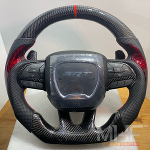 2014- 2021 Carbon Jeep / Dodge SRT Steering Wheel