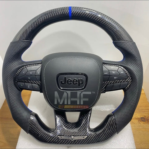 "2018-2020 Carbon Blue ""Track Series"" TrackHawk Steering Wheel"