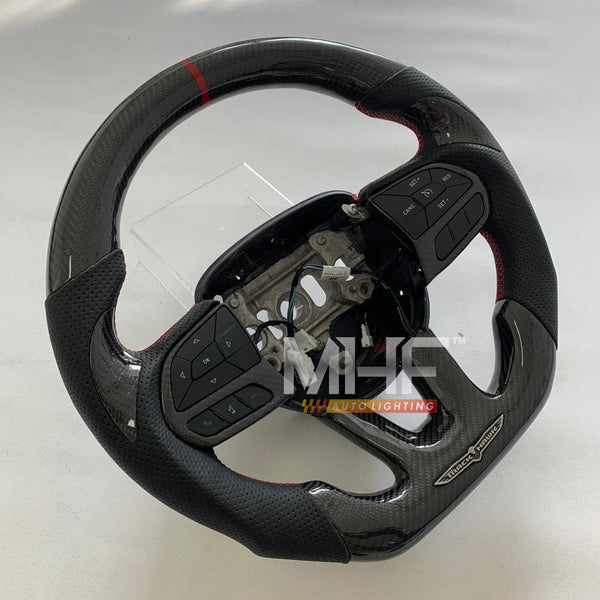 "2018-2020 Carbon Red ""Track Series"" TrackHawk Steering Wheel"