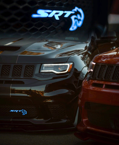 Jeep Track Hawk / Hellcat illuminated Badge