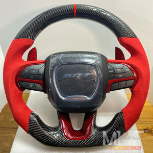 2014-2020 Jeep/ Dodge Carbon Red Carbon Steering Wheel