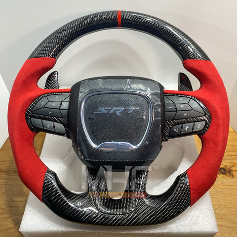2014- 2020 Carbon Jeep / Dodge SRT Steering Wheel