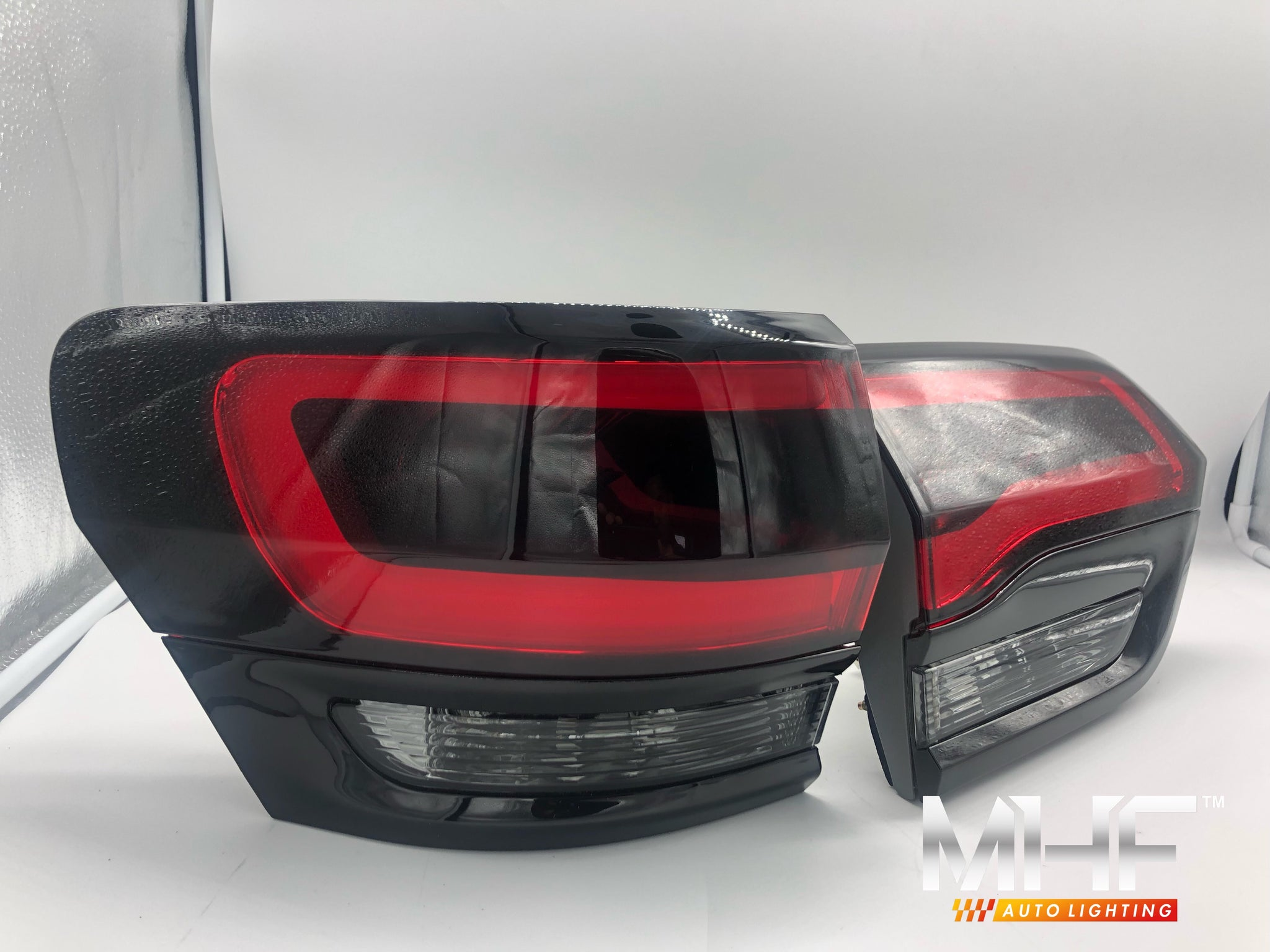 Painted Gloss Black Design LED Taillights 2014-2021 Jeep WK2