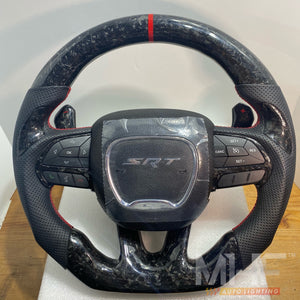 2014-2021 Jeep/ Dodge Forged Carbon Theme Steering Wheel
