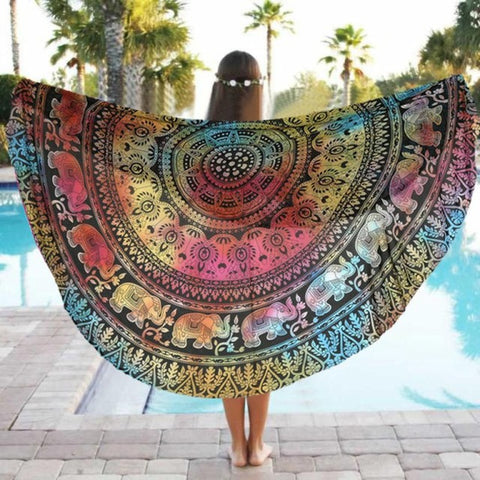 Indian Mandala Beach Cloth