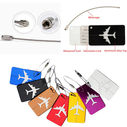 Airplane Shape Luggage Tags