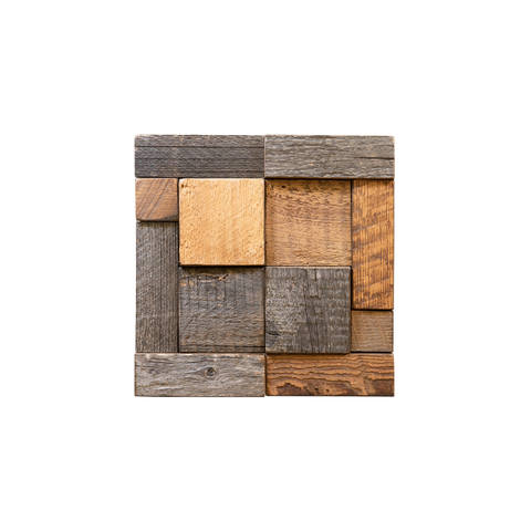 Buckskin Reclaimed Mosaic Wood Tile