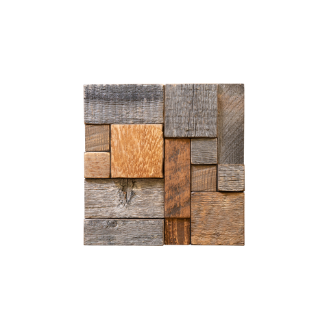 Buckskin Reclaimed Mosaic Wood Tile Alteration