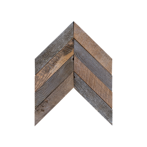 Chevron Buckskin Mosaic Wood Wall Tiles
