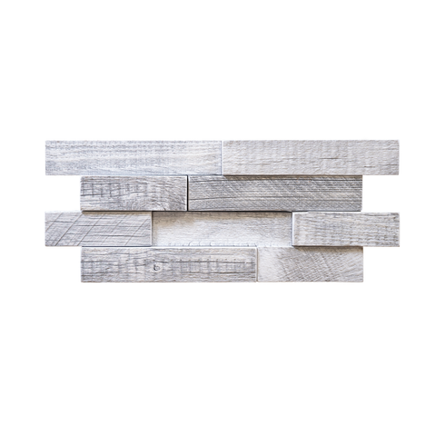 Glacier Brick Reclaimed Wood Mosaic Panel