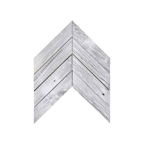 Chevron Glacier Mosaic Wood Wall Tile