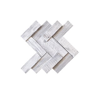 Herringbone Glacier Mosaic Wood Wall Tile