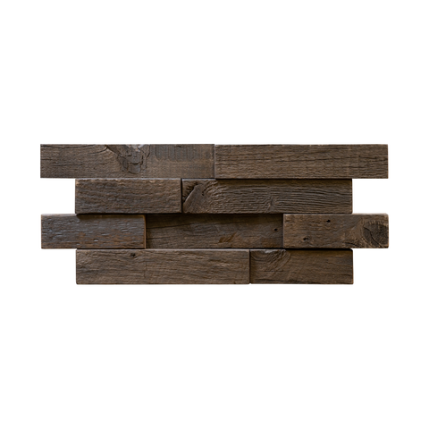 Gunstock Brick Reclaimed Wood Mosaic Panel