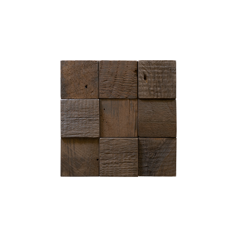 Gunstock Herringbone Mosaic Wood Tile