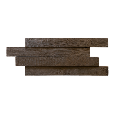 Gunstock Stacked Reclaimed Wood Panel