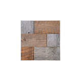Natural Cobblestone Reclaimed Mosaic Wood Tile