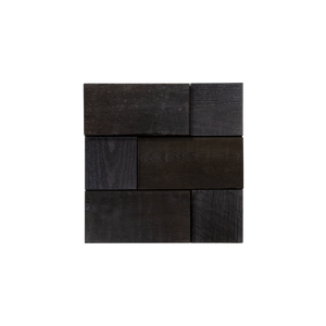 Cobblestone Ember Mosaic Wood Wall Tiles